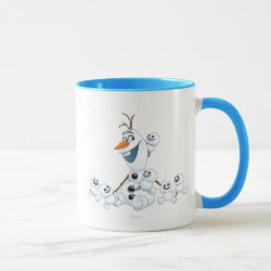 Combo Mug with Olaf With Snowgies design