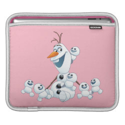 iPad Sleeve with Olaf With Snowgies design