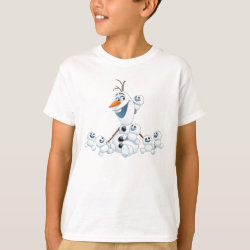 Kids' Hanes TAGLESS® T-Shirt with Olaf With Snowgies design