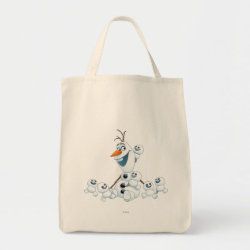Grocery Tote with Olaf With Snowgies design