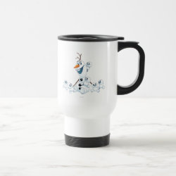 Travel / Commuter Mug with Olaf With Snowgies design