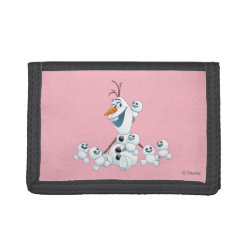 TriFold Nylon Wallet with Olaf With Snowgies design
