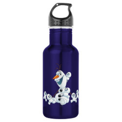 Water Bottle (24 oz) with Olaf With Snowgies design