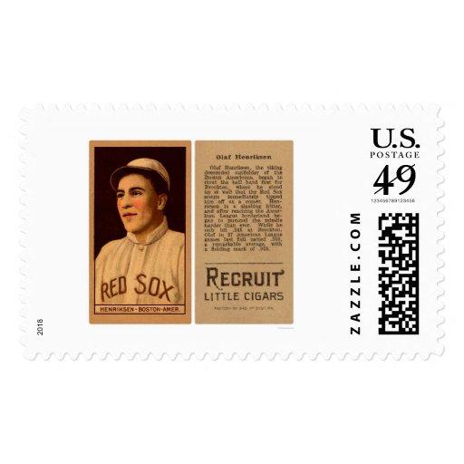 Olaf Henriksen Red Sox Baseball 1912 Postage Stamps