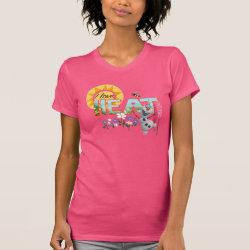Women's American Apparel Fine Jersey Short Sleeve T-Shirt with Olaf: I Love Heat design