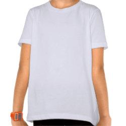 Girls' Basic American Apparel T-Shirt with Frozen's Olaf: I Love Warm Hugs design