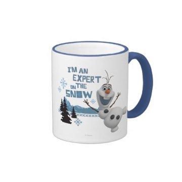 Olaf, I'm an Expert on the Snow Mug at Zazzle