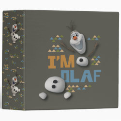 Avery Signature 1' Binder with Funny: Olaf in Pieces design