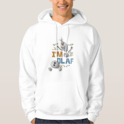Men's Basic Hooded Sweatshirt with Funny: Olaf in Pieces design