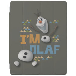 iPad 2/3/4 Cover with Funny: Olaf in Pieces design