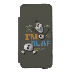 Incipio Watson™ iPhone 5/5s Wallet Case with Funny: Olaf in Pieces design