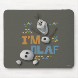 Mousepad with Funny: Olaf in Pieces design