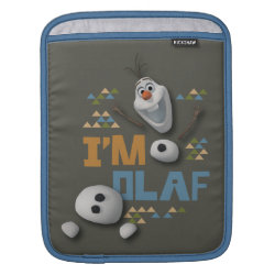 iPad Sleeve with Funny: Olaf in Pieces design