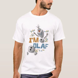 Men's Basic T-Shirt with Funny: Olaf in Pieces design