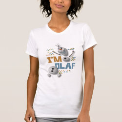Women's American Apparel Fine Jersey Short Sleeve T-Shirt with Funny: Olaf in Pieces design