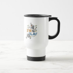 Travel / Commuter Mug with Funny: Olaf in Pieces design