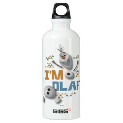 SIGG Traveller Water Bottle (0.6L) with Funny: Olaf in Pieces design