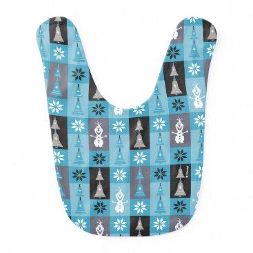 Disney Themed Olaf | Let the Holiday's Begin Pattern Baby Bib