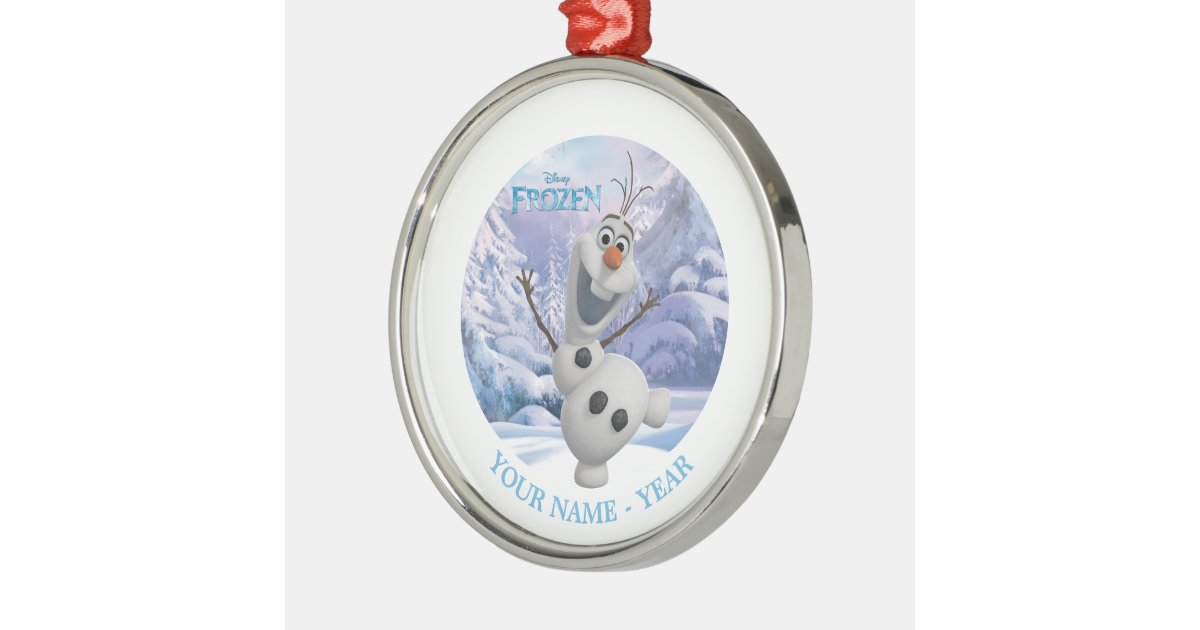 Olaf personalized metal ornament zazzle
