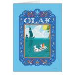 Olaf que flota en el agua felicitación