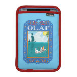 Olaf que flota en el agua funda para iPad mini