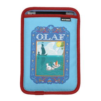 Olaf que flota en el agua fundas de iPad mini