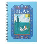 Olaf que flota en el agua libros de apuntes