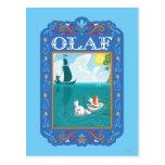 Olaf que flota en el agua tarjeta postal