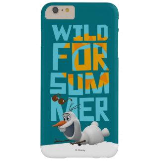 Olaf, salvaje para el verano funda de iPhone 6 plus barely there