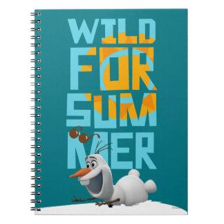 Olaf, salvaje para el verano cuaderno