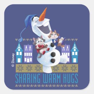 Olaf | Sharing Warm Hugs Square Sticker