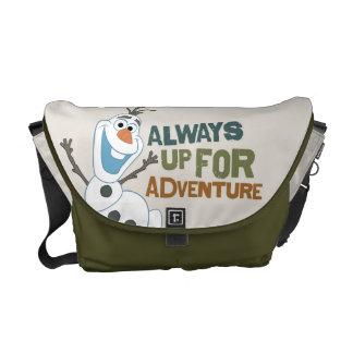 Olaf - siempre para arriba para la aventura bolsas de mensajería