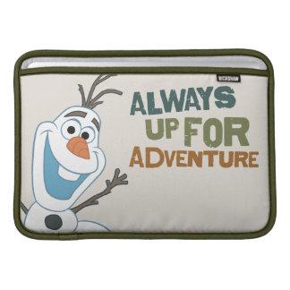 Olaf - siempre para arriba para la aventura fundas para macbook air