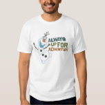 Olaf - siempre para arriba para la aventura playeras