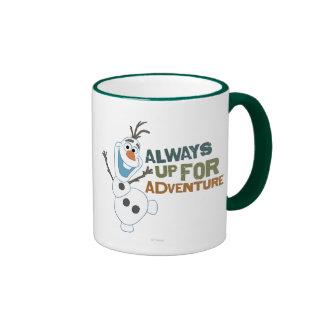 Olaf - siempre para arriba para la aventura taza a dos colores