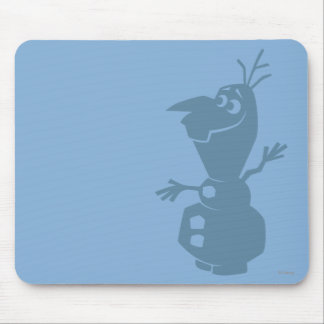 Olaf Silhouette Mouse Pad