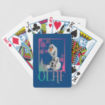 Olaf Sitting Bicycle Poker Cards