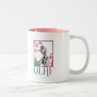 Olaf Sitting Two-Tone Coffee Mug