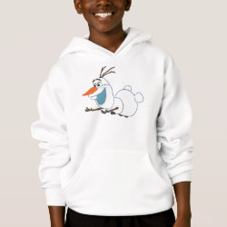 Frozen's Olaf the Snowman Sliding Girls' American Apparel Fine Jersey T-Shirt