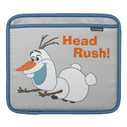 iPad Sleeve with Frozen's Olaf the Snowman Sliding design