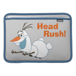 Macbook Air Sleeve with Frozen's Olaf the Snowman Sliding design
