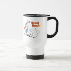 Travel / Commuter Mug with Frozen's Olaf the Snowman Sliding design