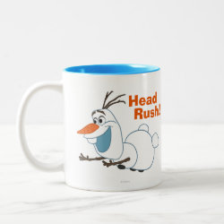 Two-Tone Mug with Frozen's Olaf the Snowman Sliding design