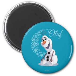 Olaf Snowflakes 2 Inch Round Magnet