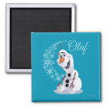 Olaf Snowflakes 2 Inch Square Magnet
