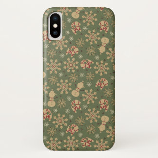 Olaf    Snowflakes and Magic Pattern iPhone X Case