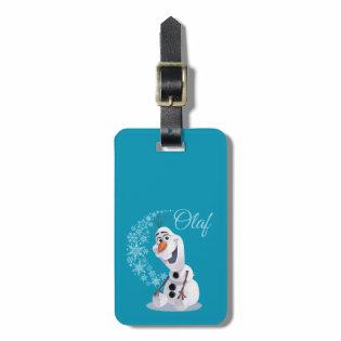 Olaf Snowflakes Bag Tag