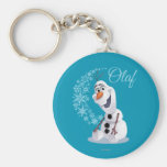 Olaf Snowflakes Basic Round Button Keychain