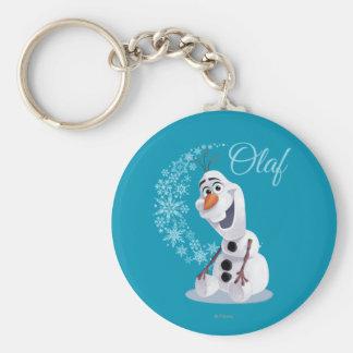 Olaf Snowflakes Basic Round Button Keychain