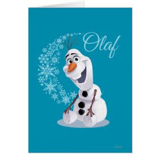 Olaf Snowflakes Greeting Card